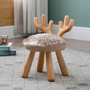 Adorable Animal Theme Stool Cute for Boys and Girls Small Round Stools