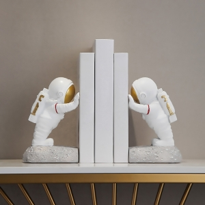 Modern Bookends Decorative Astronauts Bookends Boys and Girls Table Decors