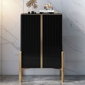 Luxury Double Doors Vertical Storage Two Layers Cabinet