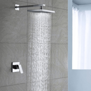 """Modern Pressure Balancing Shower System with 10"""" Stainless Steel Showerhead"""