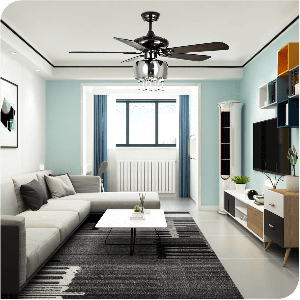 Yitahome Classical 3-Light Crystal Noise-Free Ceiling Chandelier Fans for Living Room