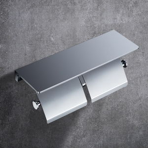 Classic Tissue Paper Holder with Shelf and Metal Cover Toilet Paper Holder
