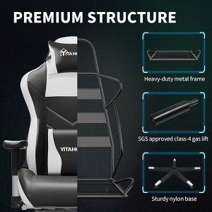 Computer Gaming Chair with Footrest Heavy Duty Ergonomic Video Game Chair