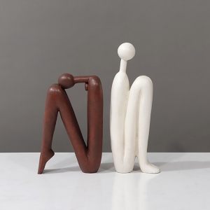 Stylish Artful Suave Bookends Crouching Characters Abstract Book Stops