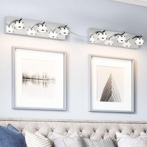 Luxurious Wall Mount 3-Light Crystal Lampshades Sconce Vanity Lights