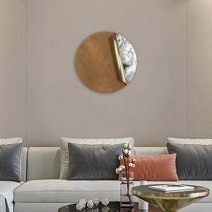 """Wall Decor Curly Wall Art Decoration 20"""" Stainless Steel Wall Hanging Home Decor with Aluminum"""