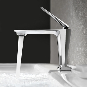 Contemporary Deck Mount 1-Hole Bathroom Sink Faucet with Aerator