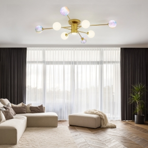 Stylish Fancy Chandelier with Space Planet Design Shade Ceiling Light
