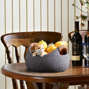 Modern Table Decor Lovely Kitty Storage Basket Decoration Home Accessories