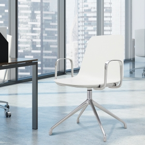 Minimalistic Swivel Office Chair Metal Frame Office Chair