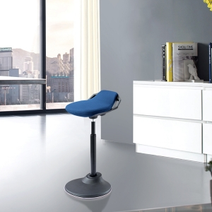 Contemporary Swivel Desk Stool with Resilient Seat Ergonomic Office Stool