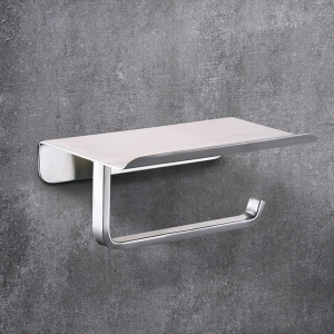 Minimalist Wall Mounted Toilet Paper Holder Stainless Steel Single Arm