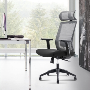 Modern Mesh Back Office Chair with Metal Frames and Resilient Seat