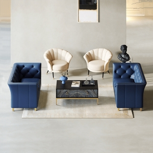 """Modern Microfiber Leather Loveseat Sofa 65"""" with Flared Arms and Stainless Steel Legs"""