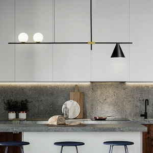 Modern Semi-Flush Mount Ceiling Light with Baking Paint Iron Frame and Metal Lampshade