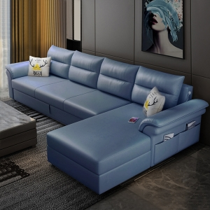 """Modern Loveseat Sofa Bed 104"""" Engineered Cloth Convertible Sleeper with Iron Wood Frame"""