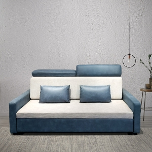 Modern Sleeper Convertible Sofa Bed with Iron Wood Frame