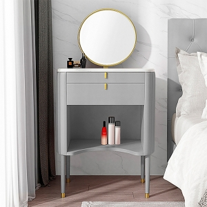 """Nordic Marble Vanity Makeup Dressing Table 39"""" with Mirror"""