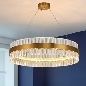 Luxurious Crystal Decors Chandelier Ring Shape Ceiling Light