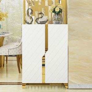 """Simple MDF Board Sideboard Cabinet 32"""" with Stainless Steel Frame"""