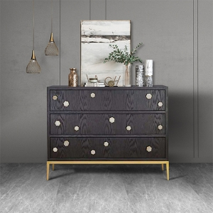 """Modern Solid Wood Chest of Drawers Cabinet 47"""" with Metal Legs"""