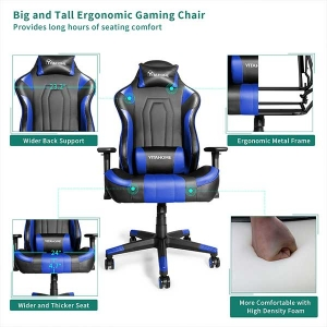Stylish Gaming Chair Big and Tall Heavy Duty Ergonomic Video Game Chair