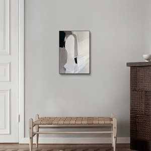 Natasha Wall Art with Abstract Geometric Modern Vertical Blocks and Lines Decors