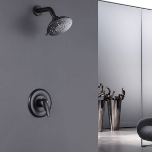 Modern Wall Mount 2-Hole Concealed Spray Shower System with Lever Handle