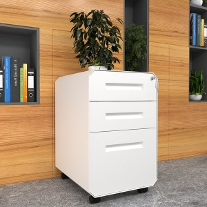 Classical White File Cabinet 3-Drawer Office Storage Filing Cabinet for Office